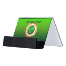 Taurus Astrological Sign Desk Business Card Holder