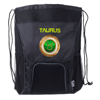 Taurus Astrological Sign Drawstring Backpack