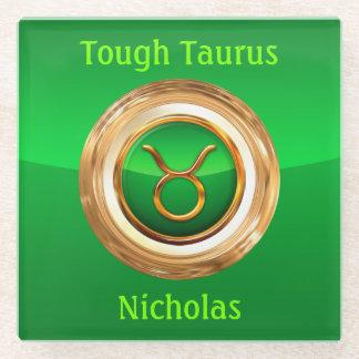 Taurus Astrological Sign Glass Coaster