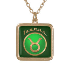 Taurus Astrological Sign Gold Plated Necklace