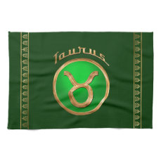 Taurus Astrological Sign Kitchen Towel