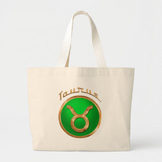 Taurus Astrological Sign Large Tote Bag