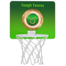Taurus Astrological Sign Mini Basketball Hoop