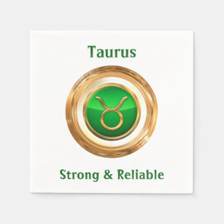 Taurus Astrological Sign Paper Napkin