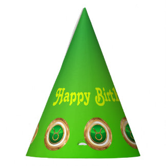 Taurus Astrological Sign Party Hat