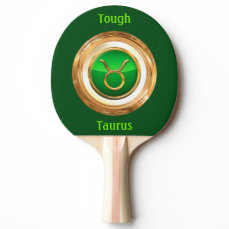 Taurus Astrological Sign Ping-Pong Paddle