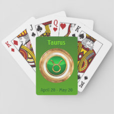 Taurus Astrological Sign Playing Cards