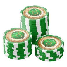 Taurus Astrological Sign Poker Chips Set