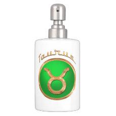 Taurus Astrological Sign Soap Dispenser & Toothbrush Holder