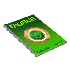 Taurus Astrological Sign Spiral Notebook