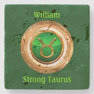 Taurus Astrological Sign Stone Coaster