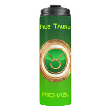 Taurus Astrological Sign Thermal Tumbler