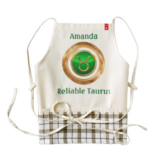 Taurus Astrological Sign Zazzle HEART Apron