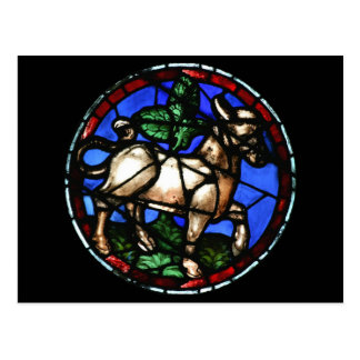 Taurus Astrology Stained Glass Windows - Postcards