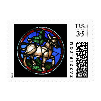 Taurus Astrology Stained Glass Windows - Stamps