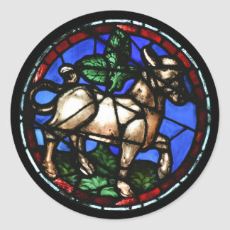 Taurus Astrology Stained Glass Windows Stickers