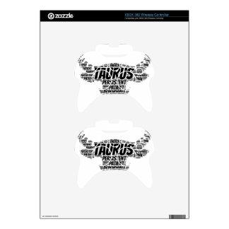 Taurus Astrology Zodiac Sign Word Cloud Xbox 360 Controller Skin