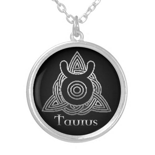 Taurus Birth Sign Celtic Knot Zodiac Necklace