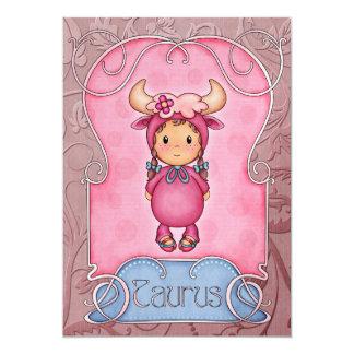 Taurus Birthday 2 - SRF 5x7 Paper Invitation Card