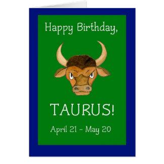 'Taurus' Birthday Card