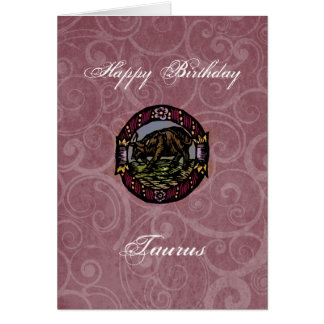 Taurus Birthday Card