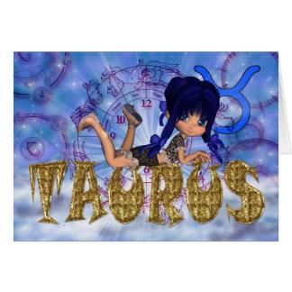 Taurus Birthday Card cute