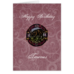 Taurus Birthday Greeting Card