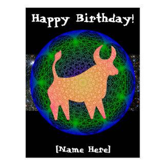 Taurus Birthday Postcard