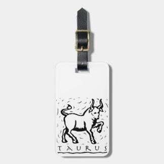 Taurus Birthday Year Astrological Zodiac Sign Bag Tag