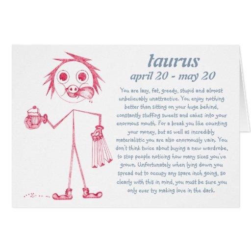Taurus [ - BitchScope - ] Birthday Card