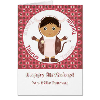 Taurus Boy - Happy Birthday Card