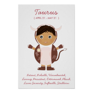 Taurus - Boy Horoscope Poster
