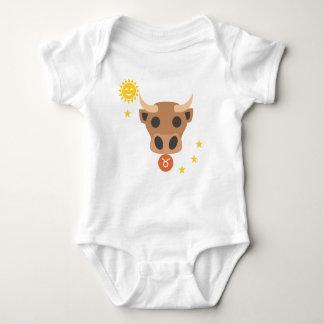 Taurus bull baby bodysuit - zodiac star sign