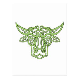 Taurus Bull Celtic Knot Postcard