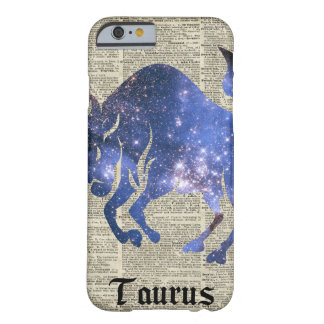 Taurus Bull Space Collage On Old Book Page Barely There iPhone 6 Case
