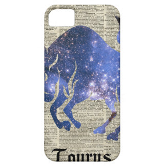Taurus Bull Space Collage On Old Book Page iPhone SE/5/5s Case