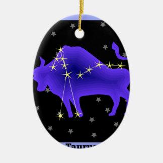 Taurus Ceramic Ornament