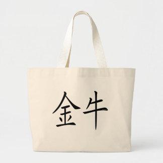 Taurus Chinese Symbol Canvas Bag
