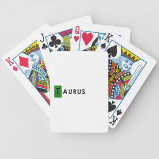 TAURUS COLOR BICYCLE PLAYING CARDS