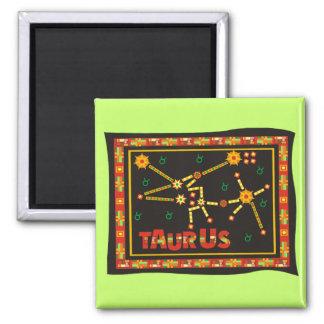Taurus Constellation 2 Inch Square Magnet