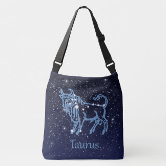 Taurus Constellation and Zodiac Sign with Stars Tote Bag