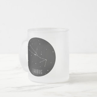 Taurus Constellation Frosted Glass Coffee Mug