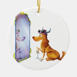 Taurus Dog Ceramic Ornament