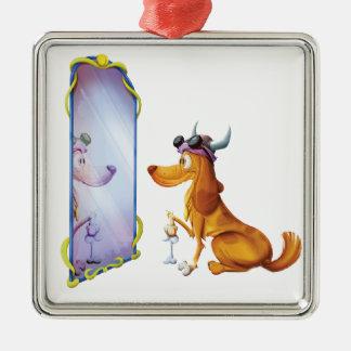Taurus Dog Metal Ornament