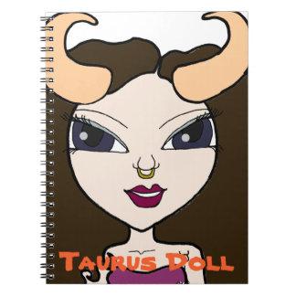 Taurus Doll Spiral Notebook