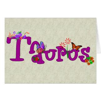 Taurus Flowers Card