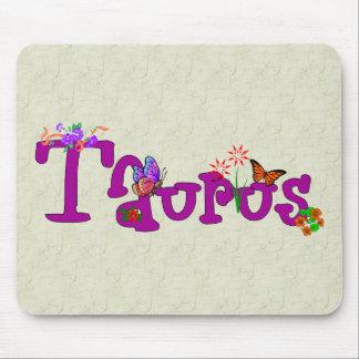 Taurus Flowers Mouse Pad
