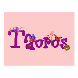 Taurus Flowers Postcard