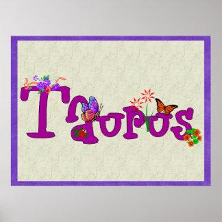 Taurus Flowers Poster
