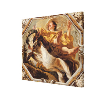 Taurus, from the Signs of the Zodiac Stretched Canvas Print